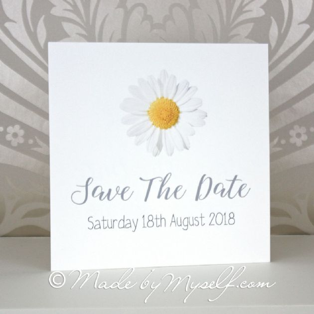 Printed Daisy Save The Date